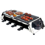 Syntrox RAC-1200W-Genf Raclette für 8 Personen mit Grillplatte