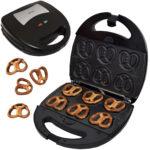 Syntrox SM-1300W Mini Soft Pretzel Mini Brezel Maker mit Backplatten