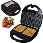Syntrox SM-1300W Waffle Bakery Waffeleisen belgische mit Backplatten