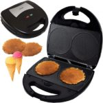 Syntrox SM-1300W Mini Waffle Cone Waffelkegel Maker